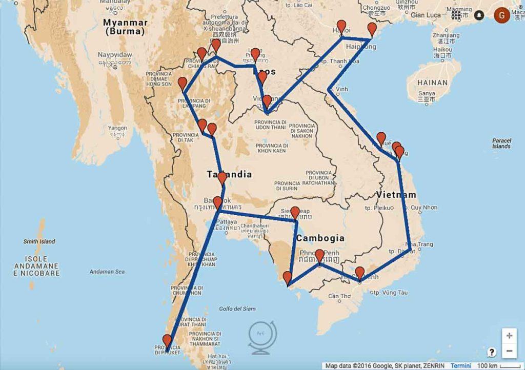 Sud Est Asiatico: itinerario